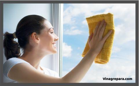 limpieza de vidrios con vinagre
